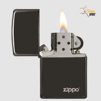 فندک زیپو EBONY WITH ZIPPO LOGO LASERE